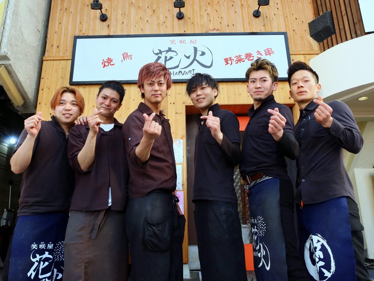 YTSのメンバー(左から森、ノブ、ペイ、ケイ、ツカ、クイ)