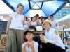 倉敷市災害ボランティアセンターでバナナジュース1000杯提供 マルゴカフェ店長が同級生と