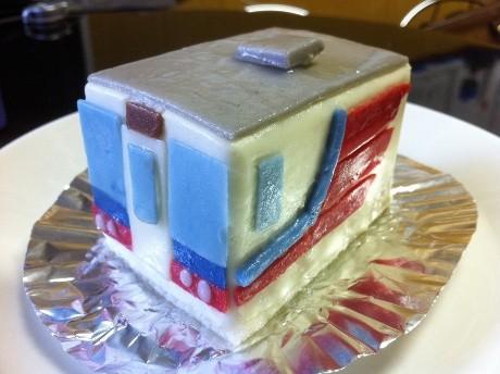 「三陸鉄道」のトレインケーキ