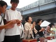 京橋駅空襲被災者慰霊祭-「若い世代へ語り継ぐ」