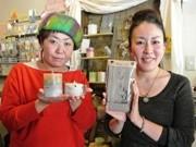 京橋のカフェでクリスマス向け雑貨の展示販売会-リース、キャンドルなど