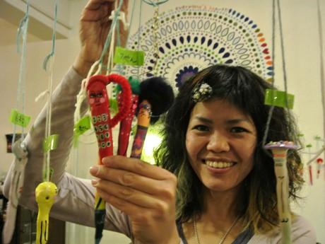 作家の今川咲恵さんと展示販売しているボールペン