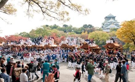 昨年の「地車in大阪城」の様子