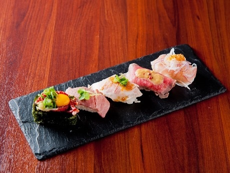「肉寿司」(5貫セット780円)