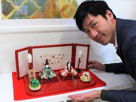吉村大作さんとひな人形