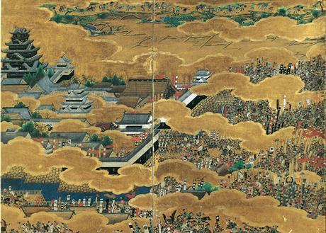 重要文化財「大坂夏の陣図屏風」(右隻)(部分)
