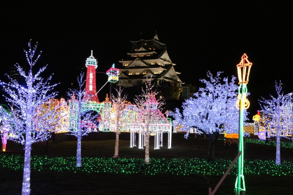 「大阪城イルミナージュ」のイルミネーション