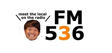 パーソナリティーの美浦高志さん、536は城東区の郵便番号。