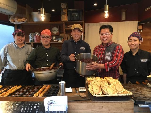 「あん」原料のビール造りでタッグを組む「小倉庵」と「後藤醸造」のスタッフ