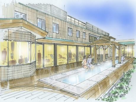 新設される足湯庭園のイメージ