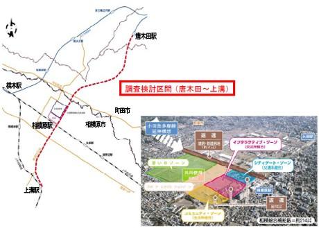 小田急多摩線延伸の調査検討区間