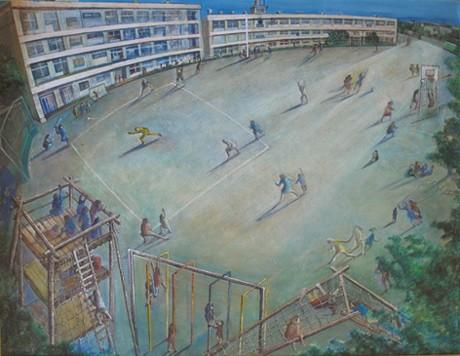 遠藤彰子さん作「とおいひ」平成5年制作・並木小学校蔵