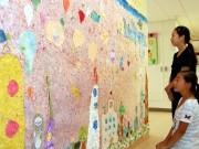 被災地の子どもに希望の町を-町田の小学生が「大きなちぎり絵」制作