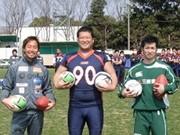 相模原「スリーフットボール」チームが初の合同トレーニング
