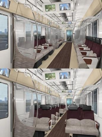 クロス/ロングシート転換座席の新型車両「5000系」