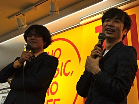 MOTORWORKSの石田ショーキチさん(左)、田村明浩さん