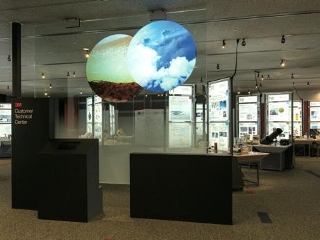 カスタマーテクニカルセンターの展示エリア。一般公開はされていない。