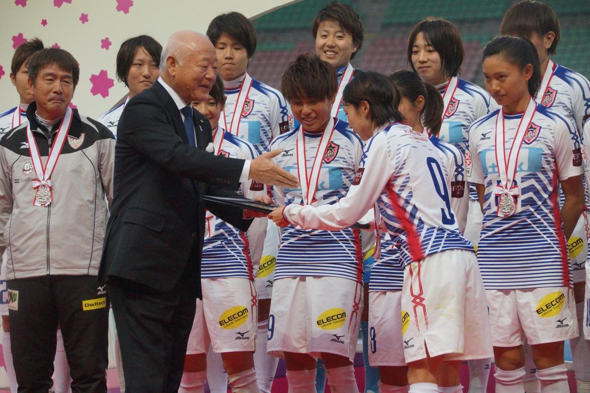 皇后杯表彰式の様子 ©ノジマステラ神奈川相模原