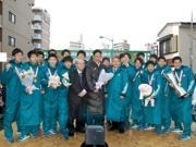 箱根V4青学大、地元・淵野辺で「凱旋」パレード 3万人が祝福