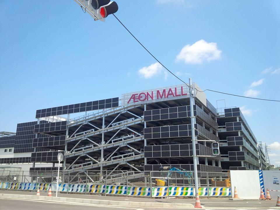 工事中のイオンモール座間に付属する大型駐車場