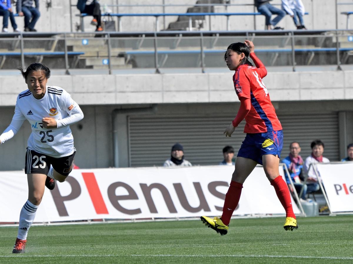 デビュー弾が今季のチーム初得点となった田中萌選手