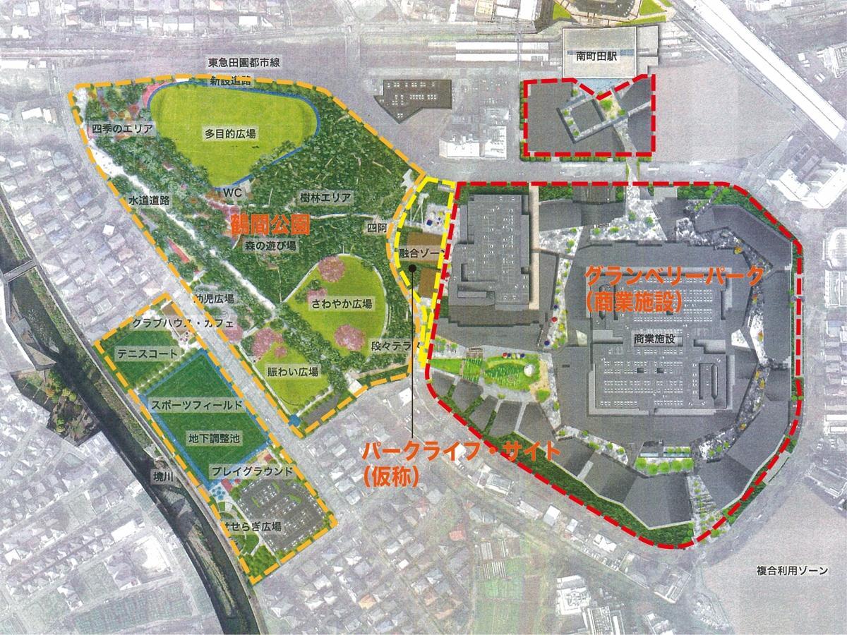 南町田グランベリーパークの将来図