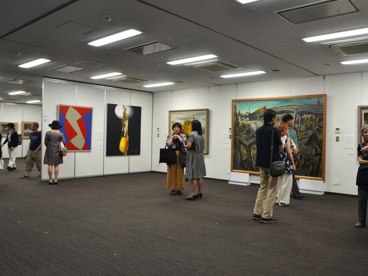 相模原市収蔵美術品展の様子