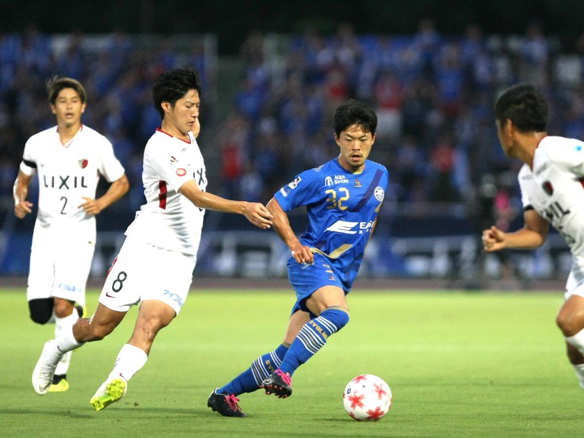 得点した町田の戸高弘貴選手。ドリブルで鹿島ゴールに果敢に迫った。