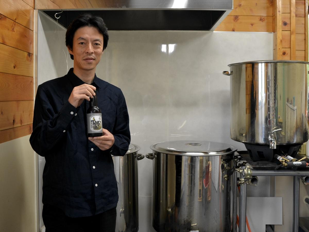 クラフトビール醸造所「Jazz Brewing Fujino」を創業した山口解さん