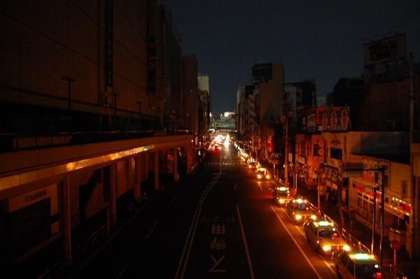 2011年に実施された計画停電時の町田駅周辺の様子