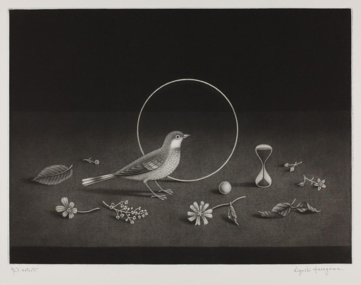 《時 静物画》1969年 マニエル・ノワール 269×360mm