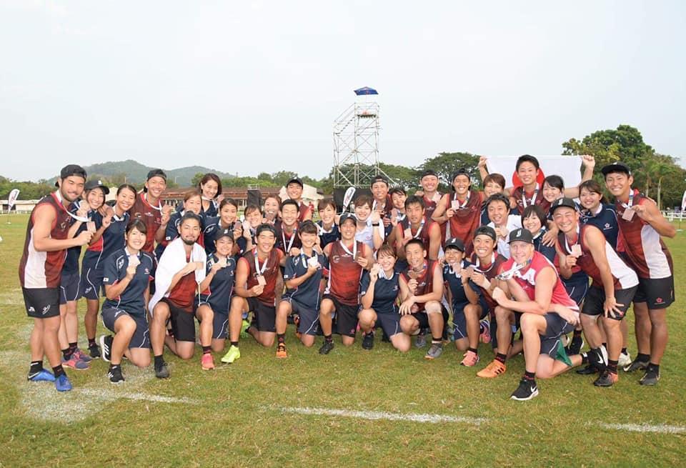 銅メダルを獲得したタッチラグビー日本代表 写真提供:一般社団法人ジャパンタッチ協会