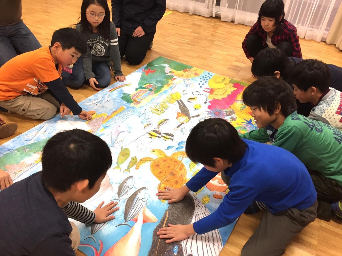 海洋学習教材 LAB to CLASSを使った活動の様子