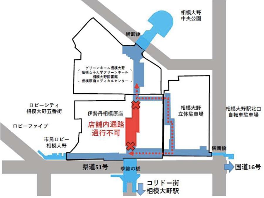 迂回路の位置図