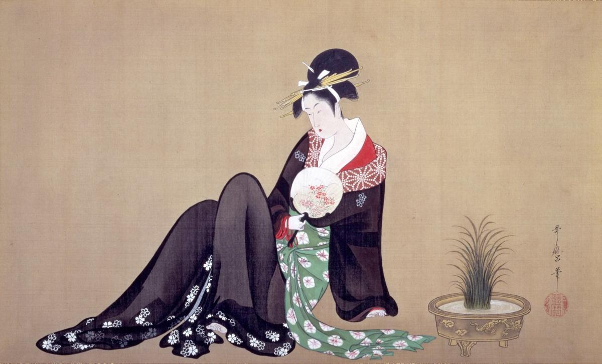 町田の版画美術館で 美人画 浮世絵展 春信 歌麿など230点 相模原
