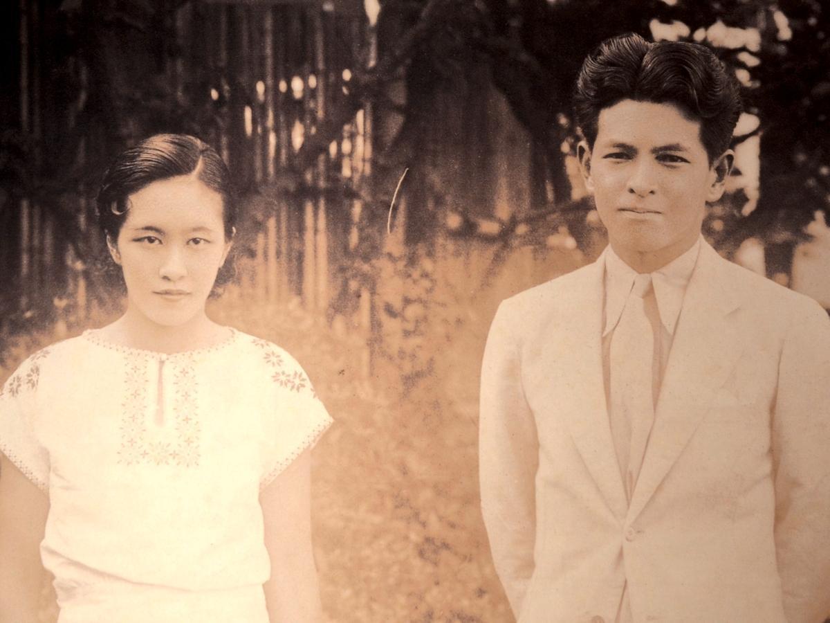 結婚当時の正子と次郎 1929年