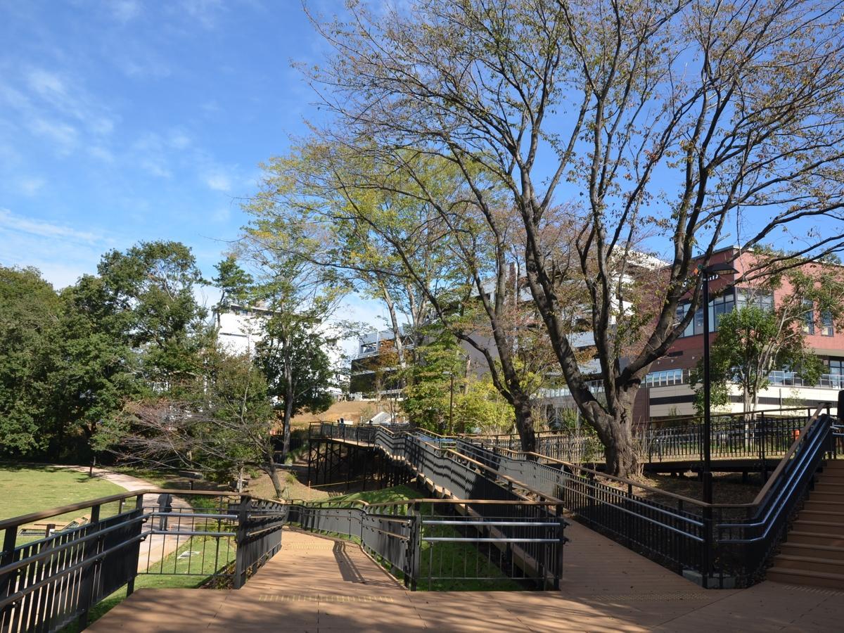 鶴間公園と商業施設「グランベリーパーク」をつなぐパークライフサイト。スヌーピーミュージアム、まちライブラリーが立地する。