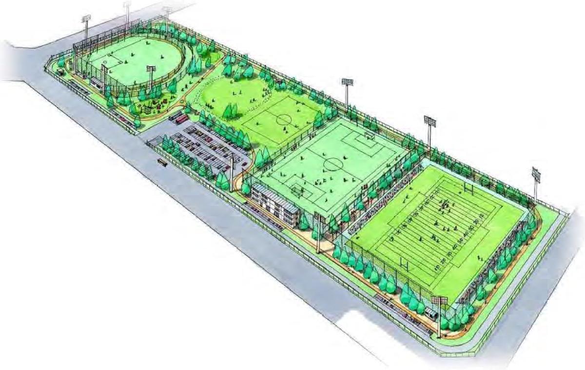 「相模原スポーツ・レクリエーションパーク」整備イメージ 出典:スポーツ・レクリエーションゾーン(相模総合補給廠共同使用区域内)基本計画