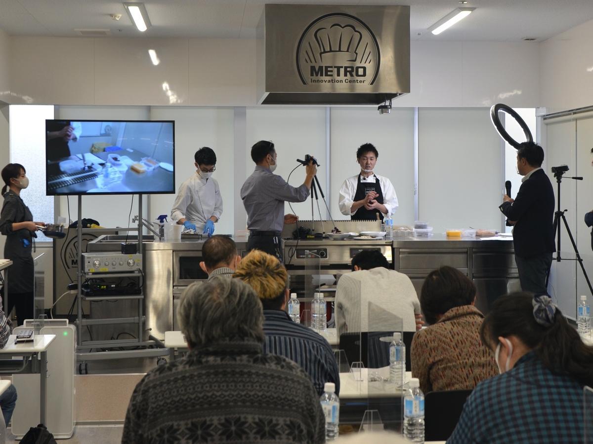 「サンパウ」の赤木渉シェフによる料理講習会