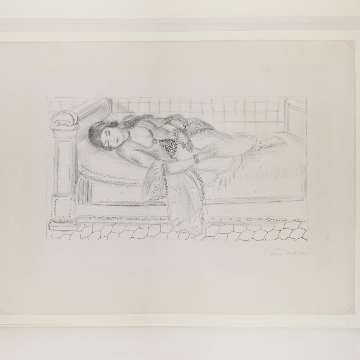 アンリ・マティス《眠るオダリスク》、リトグラフ、1929年、町田市立国際版画美術館蔵