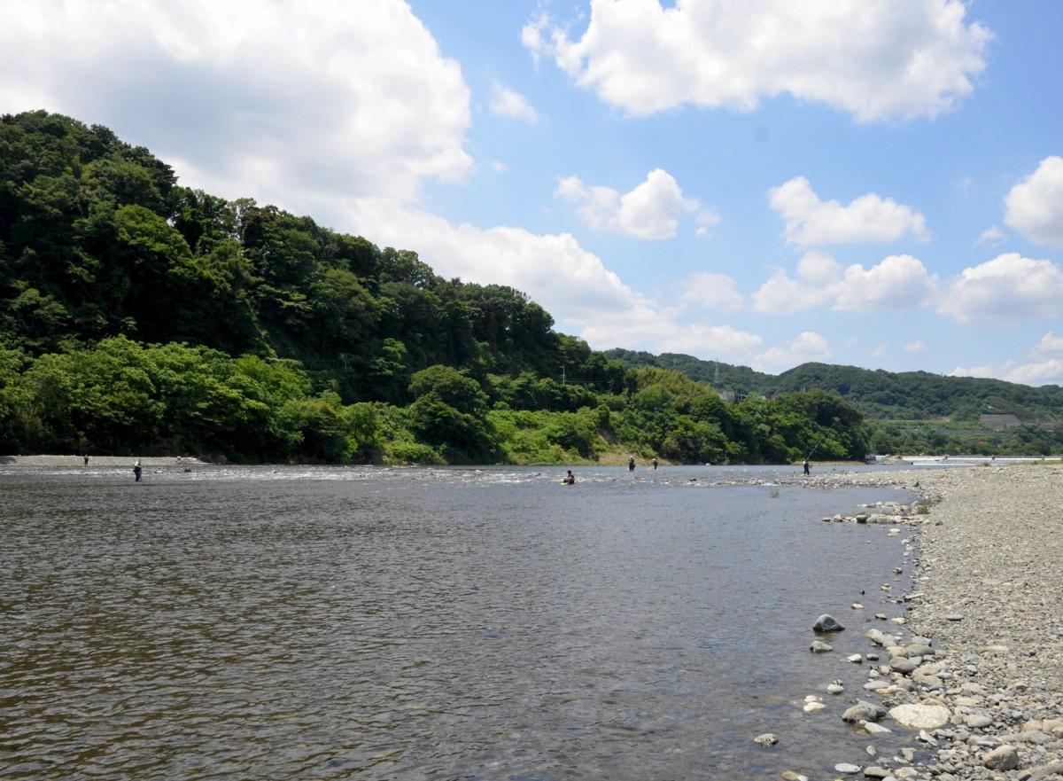 高田橋付近の釣り場の様子
