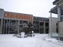広域相模原町田圏で降雪 人出少なく、南町田グランベリーパーク「雪化粧」