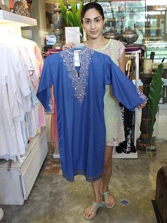 印木綿に鮮やかな染めの伝統衣装クルタ