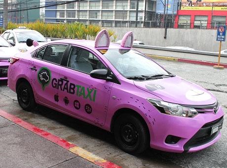 タクシー配車アプリのキャンペーンカー