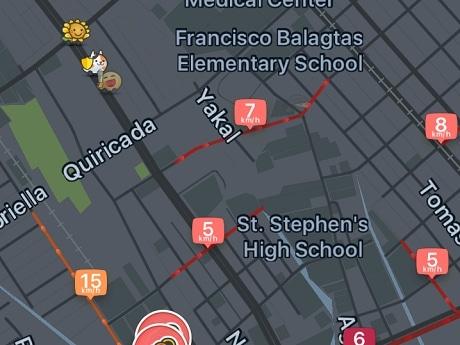 ナビゲーションアプリ「Waze(ウェイズ)」の画面