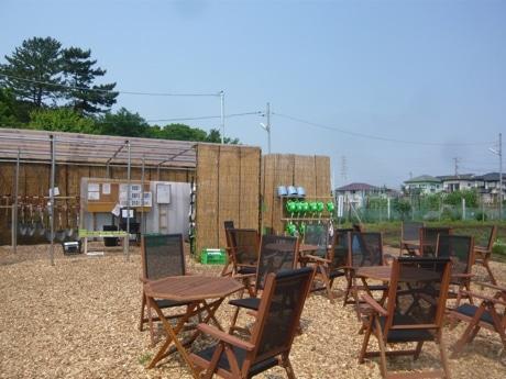 「シェア畑」の敷地には駐車場や水道、アウトドアラウンジなどを完備(写真は完成イメージ)