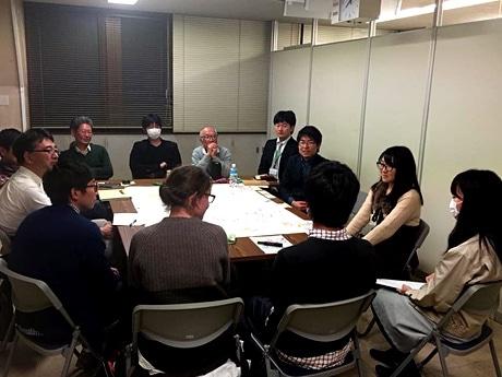 松戸に関わりのある学生と市民活動団体の代表らが会議に参加