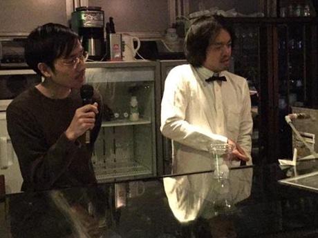 「UTRECHT」の黒木晃さん(左)と「ONLY FREE PAPER」の松江健介さん(右)