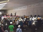 松戸の東京外かく環状道路工事現場でイベント コンサートや読み聞かせ