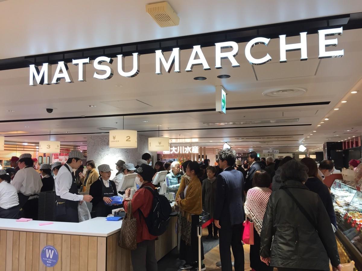 アトレ松戸店2階の生鮮食料品コーナー「MATSU MARCHE」